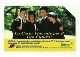 Italia - Tessera Telefonica Da 10.000 Lire N. 288 - 31/12/95 Centri Linguistici - Italia