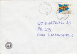 Aland : 1984 - Lettre De Tosarby Pour Helsingfors - Drapeau - WWF - Aland