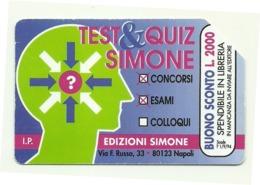 Italia - Tessera Telefonica Da 10.000 Lire N. 290 - 31/12/95 Dizionari Simone - Italia