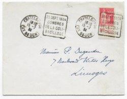 """1934 - DAGUIN RARE """"CONGRES DE LA BACILLOSE"""" Sur ENVELOPPE De CHATELGUYON (PUY DE DOME) - PAIX AVEC PUB D.U - Marcofilie (Brieven)"""