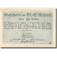 Billet, Autriche, Aschach An Der Donau, 10 Heller, Blason, SPL, Mehl:FS 53IIb20 - Autriche