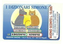 Italia - Tessera Telefonica Da 10.000 Lire N. 291 - 31/12/95 Dizionari Simone - Pubbliche Figurate Ordinarie