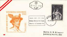 AUTRICHE - 1961 - FDC - Congrès De La Banque Internationale - FDC