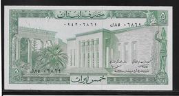 Liban - 5 Livres - Pick N°62 - NEUF - Liban