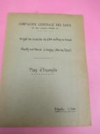 Compagnie Générale Des Eaux/ Projet De Conduite De Noisy Le Grand -Noisy Sur Marne à Gagny/vers 1930-1950       VPN237 - Arbeitsbeschaffung