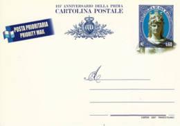 SAINT-MARIN -  2007 - Entier Postal Neuf - 125è Anniversaire De La Première Carte Postale - Enteros Postales