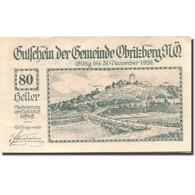 Billet, Autriche, Obritzberg, 80 Heller, Paysage 1, 1920-12-31, SPL Mehl:FS 701a - Autriche