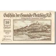 Billet, Autriche, Obritzberg, 10 Heller, Paysage 1920-12-31, SPL Mehl:FS 701a - Autriche