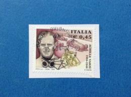 2004 ITALIA ACHILLE VARZI FRANCOBOLLO USATO STAMP USED - 6. 1946-.. Repubblica