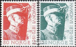 Norvège 643-644 (complète.Edition.) Oblitéré 1972 Haakon - Norvège