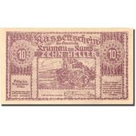 Billet, Autriche, Krumau Am Kamp, 10 Heller, Château, 1920 SPL Mehl:FS 487a - Autriche