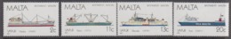 Malta 1987 Ships 4v ** Mnh (44754) - Malta