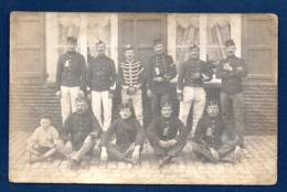 Carte-photo. Armée Belge. Soldats Avec Lettre De Mobilisation.Lanciers, Carabiniers, Chasseurs à Pied, Fantassins. - Oorlog 1914-18