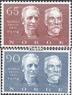 Norvège 576-577 (complète.Edition.) Oblitéré 1968 Prix Nobel De La Paix 1908 - Norway