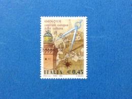 2004 ITALIA FRANCOBOLLO USATO STAMP USED GENOVA CAPITALE EUROPEA DELLA CULTURA - 6. 1946-.. Repubblica