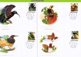 Nfd12fb FAUNA PARADIJSVOGELS PARADISE BIRDS VÖGEL AVES OISEAUX PAPUA NEW GUINEA 2013 FDC's - Birds