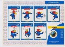 Superbe ** L'incontournable Coupe Du Monde 98 FOOTIX (et 1er Timbre Rond) - Francia