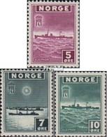 Norwegen 276-278 Postfrisch 1943 Freimarken Der Exilregierung - Norwegen