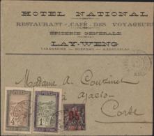 Mixte YT Madagascar 94 + 96 + Sultanat D'Anjouan N°24 CAD Maevatanana 29 Mai 14 Enveloppe Hôtel National Lay Weng - Madagascar (1889-1960)