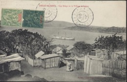 Mixte YT Mayotte 4 + Madagascar N°31 CAD Dzaoudzi Mayotte 24 Avril 1908 CPA Diego Suarez Cap Diégo Village Indigène - Mayotte (1892-2011)