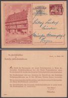 """Mi-Nr. P 293 Zudruck """"c"""" Betreffs Sonderstempel, Bedarf Mit Pass. Stempel - Alemania"""