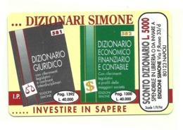 Italia - Tessera Telefonica Da 10.000 Lire N. 35 - 31/12/95 Dizionari Simone - Alto Adige - Italia