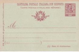 ITALIE   ENTIER POSTAL/INTERI POSTALE/POSTAL STATIONERY CARTE AVEC REPONSE - 1900-44 Vittorio Emanuele III