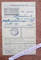Stadsbestuur Van Gent, Bevoorradingsdienst, Boterkaart - Verzamelingen