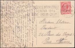 Italien Ausstellung Esposizione Igiene Marina E Colonie Auf AK, GENUA 1914  - Italie