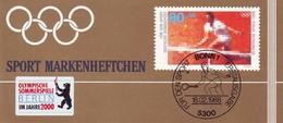 Sport 1988 Tennis 80 Pf, Mit Aufkleber BERLIN - Bewerberstadt Olympia 2000, ** - Olympische Spiele