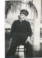 Snapshot Portrait Homme Avec Casquette Aviateur Vers 1930 2 è Régiment Aviation - Guerre, Militaire