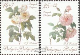 Belgien 2405-2406 (kompl.Ausg.) Postfrisch 1990 Rosen - Belgien