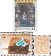 Belgien 2209,2210,2211 (kompl.Ausg.) Postfrisch 1985 Kulturfestival, Journalist, Löwe - Belgien