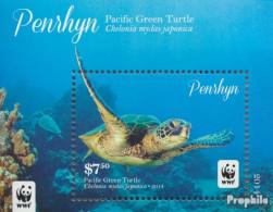 Penrhyn Block111 (kompl.Ausg.) Postfrisch 2014 Pazifische Suppenschildkröte - Penrhyn
