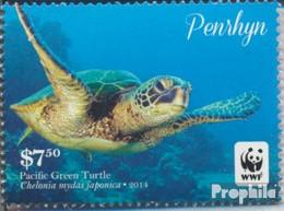 Penrhyn 765 (kompl.Ausg.) Postfrisch 2014 Pazifische Suppenschildkröte - Penrhyn