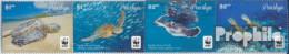Penrhyn 761-764 Viererstreifen (kompl.Ausg.) Postfrisch 2014 Pazifische Suppenschildkröte - Penrhyn