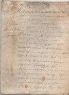 Bretagne 1697 Parchemin Vannes Saint Malo Sauton Maitre Chirurgien Querio Document Provenant Collection De J.L. Debauve - Manuscrits