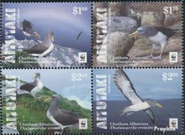 Aitutaki 966-969 Viererblock (kompl.Ausg.) Postfrisch 2016 Chatham-Albatros - Aitutaki