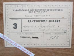 Plaatselijke Bevoorradingscommissie Der Stad Gent, Rantsoenmelkkaart - Verzamelingen