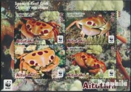 Aitutaki Block99 (kompl.Ausg.) Postfrisch 2014 Gepunktete Riffkrabbe - Aitutaki