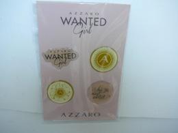 "AZZARO : "" WANTED GIRL"" CARTE  4 DOMINGS  PARFUMES      LIRE ET VOIR !! - Miniatures Womens' Fragrances (without Box)"
