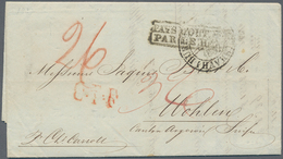 Transatlantikmail: 1837 Two Stampless Covers From New York To Wohlen, Switzerland Via France, From T - Sonstige - Europa