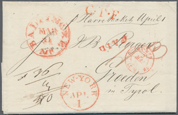 Transatlantikmail: 1840-62: Four Stampless Covers From/to The U.S.A. Related To Austria Including Tw - Sonstige - Europa