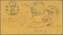 """Transatlantikmail: 1860, Envelope From """"CHICAGO ILL. JAN 17 1860"""" Addressed To Stuttgart """"per Steame - Sonstige - Europa"""