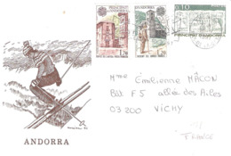 Lettre De ANDORRE Pour VICHY - Andorre Français