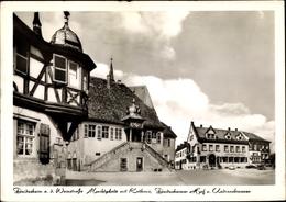 Cp Deidesheim Rheinland Pfalz, Marktplatz Mit Rathaus, Deidesheimer Hof, Andreasbrunnen - Autres