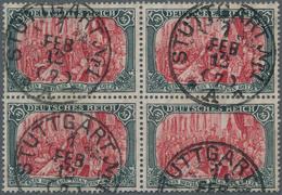 Deutsches Reich - Germania: 1905, Freimarke 5 M Mit Wasserzeichen Friedensdruck 26:17 Zähnungslöcher - Deutschland
