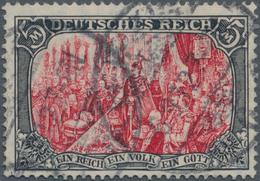 Deutsches Reich - Germania: 1905 5 RM Schwarz/dunkelkarmin, Sog. Ministerdruck, Sauber Entwertet Mit - Deutschland