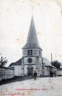 CPA -  COURCELLES Sur SEINE  (27)   L' Eglise  -  Attelage - France