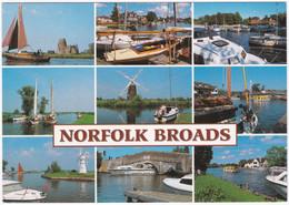 NORFOLK BROADS MULTIVIEW. RANWORTH, WROXHAM, HORNING FERRY. UNPOSTED - Angleterre